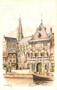 AK / Ansichtskarte Haarlem de Waag Kuenstlerkarte Kat. Haarlem