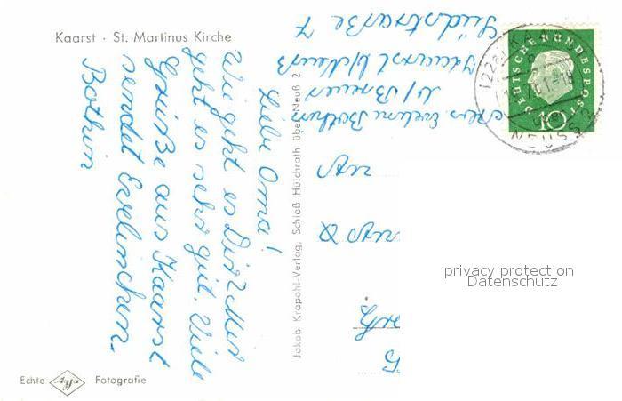 AK / Ansichtskarte Kaarst St Martinus Kirche Brunnen Kat. Kaarst 1