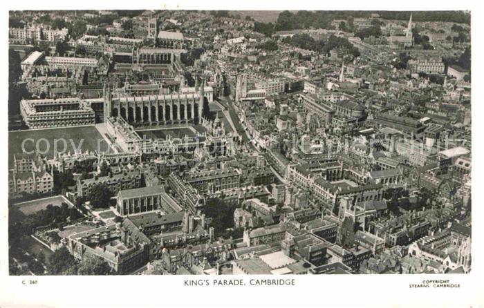 AK / Ansichtskarte Cambridge Cambridgeshire Kings Parade aerial view 0
