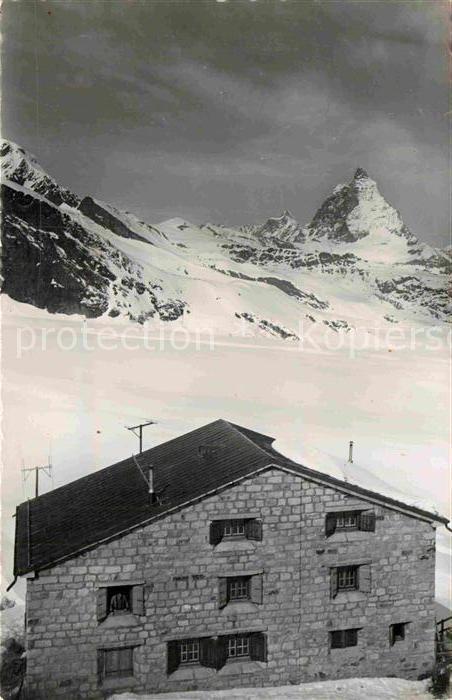 AK / Ansichtskarte Monte Rosa Huette Matterhorn Winterpanorama Walliser Alpen Kat. Zermatt 0