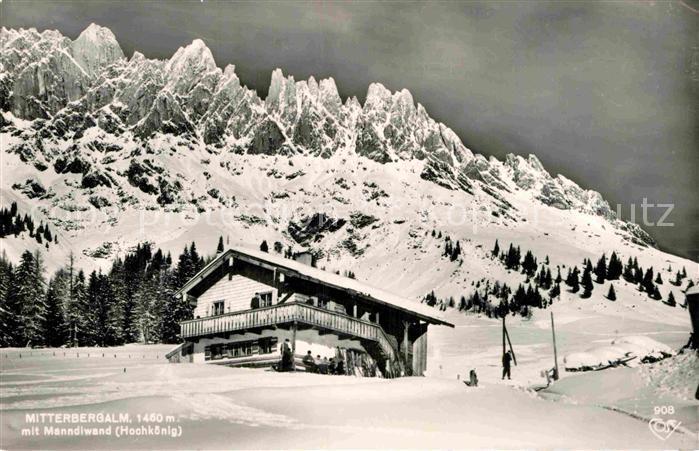 AK / Ansichtskarte Muehlbach Hochkoenig Mitterbergalm mit Manndlwand Winterpanorama Alpen Kat. Muehlbach am Hochkoenig 0