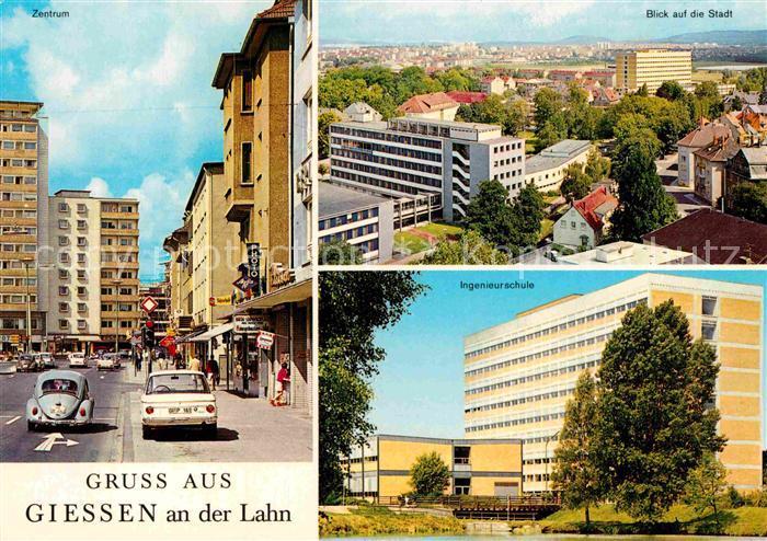AK / Ansichtskarte Giessen Lahn Zentrum Blick auf die Stadt Ingenieurschule Kat. Giessen 0