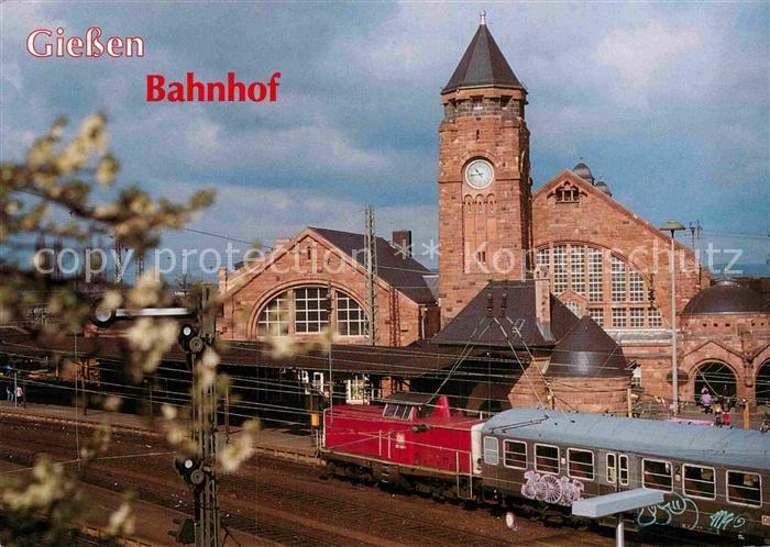 AK / Ansichtskarte Giessen Lahn Bahnhof Zug Kat. Giessen 0