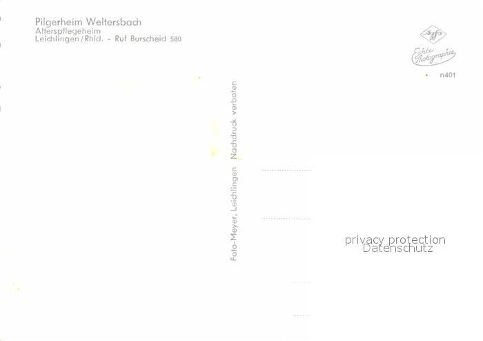 AK / Ansichtskarte Leichlingen Rheinland Pilgerheim Weltersbach Alterspflegeheim Kat. Leichlingen (Rheinland) 1