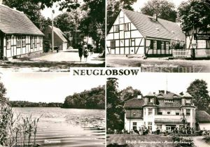 AK / Ansichtskarte Neuglobsow Ortsmotiv Theodor Fontane Haus Dagowsee FDGB Erholungsheim Kat. Stechlin