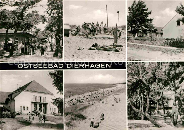AK / Ansichtskarte Dierhagen Ostseebad FDGB Erholungsheim Ernst Moritz Arndt Kiosk Strand Kat. Dierhagen Ostseebad 0