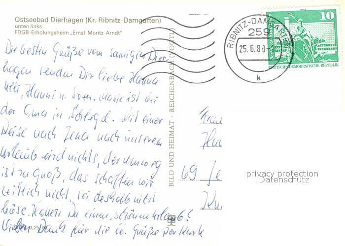 AK / Ansichtskarte Dierhagen Ostseebad FDGB Erholungsheim Ernst Moritz Arndt Kiosk Strand Kat. Dierhagen Ostseebad 1