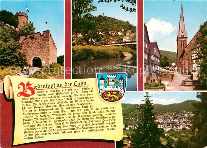 AK / Ansichtskarte Biedenkopf Burg Partie an der Lahn Kirche Wappen Geschichte Kat. Biedenkopf 0