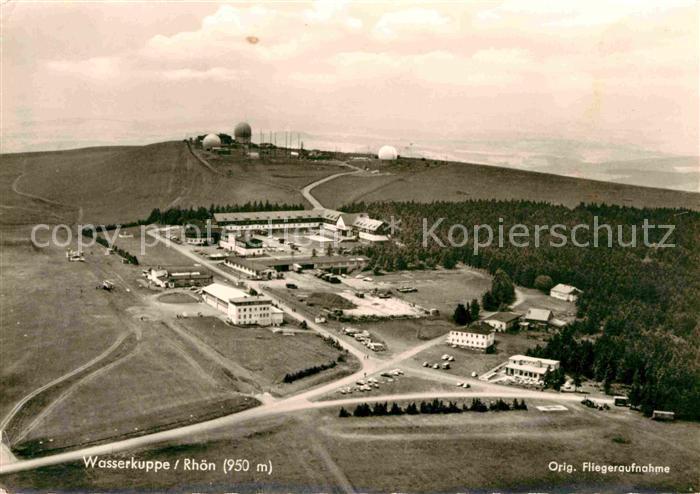 AK / Ansichtskarte Wasserkuppe Rhoen Berg der Segelflieger Fliegeraufnahme Kat. Poppenhausen (Wasserkuppe) 0