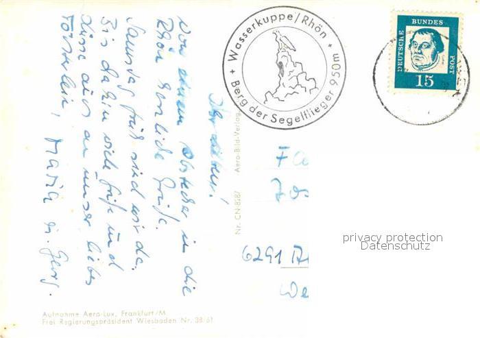 AK / Ansichtskarte Wasserkuppe Rhoen Berg der Segelflieger Fliegeraufnahme Kat. Poppenhausen (Wasserkuppe) 1