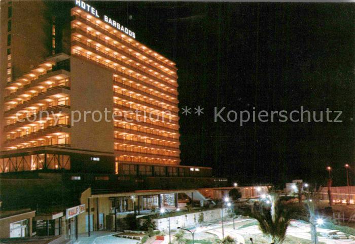 AK / Ansichtskarte Magaluf Mallorca Hotel Barbados Nachtaufnahme Kat. Calvia Islas Baleares 0