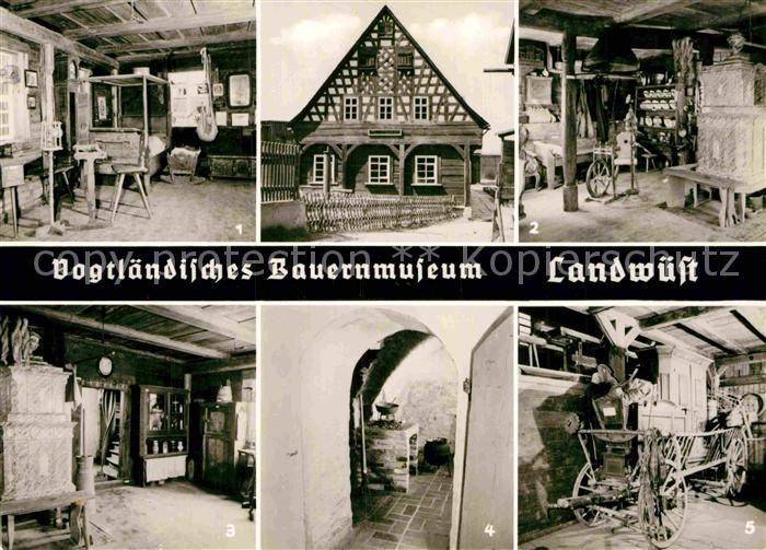 AK / Ansichtskarte Landwuest Vogtlaendisches Bauernmuseum Blockstube Russkueche Kammerwagen 18. Jhdt Kat. Markneukirchen 0