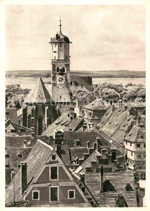 AK / Ansichtskarte Memmingen Altstadt mit St Martins Kirche Kat. Memmingen 0