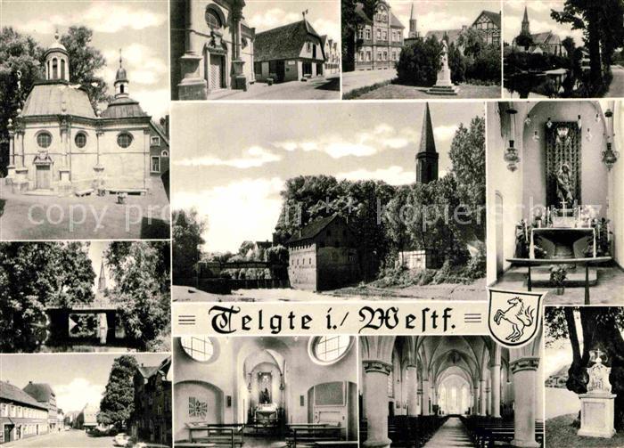 AK / Ansichtskarte Telgte Warendorf Ortsmotive Kirche Innenansichten Denkmal Kat. Telgte