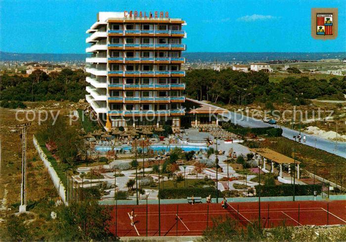 AK / Ansichtskarte Playa de Palma Mallorca Hotel Caballero Tennisplatz  Kat. Spanien 0