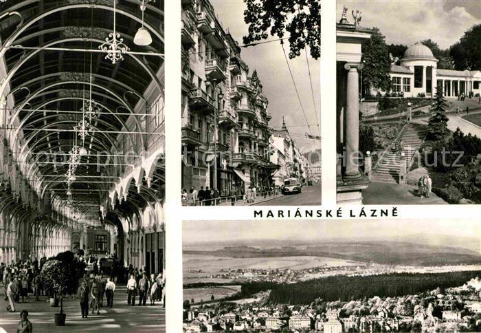 AK / Ansichtskarte Marianske Lazne Panorama Markt Kurhaus Teilansicht  Kat. Marienbad 0