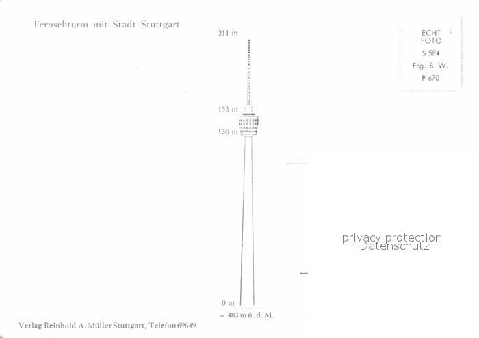 AK / Ansichtskarte Stuttgart Fernsehturm Kat. Stuttgart 1