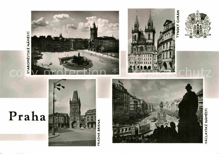 AK / Ansichtskarte Praha Prahy Prague Denkmal Stadttor Kirche  Kat. Praha 0