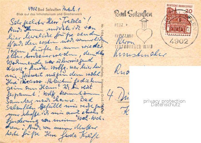 AK / Ansichtskarte Bad Salzuflen Inhalatorium Gradierwerk Kat. Bad Salzuflen 1