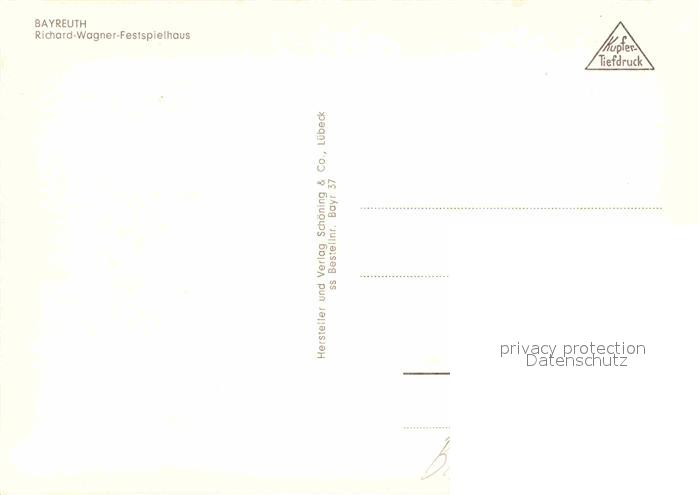 AK / Ansichtskarte Bayreuth Fliegeraufnahme Richard Wagner Festspielhaus Kat. Bayreuth 1