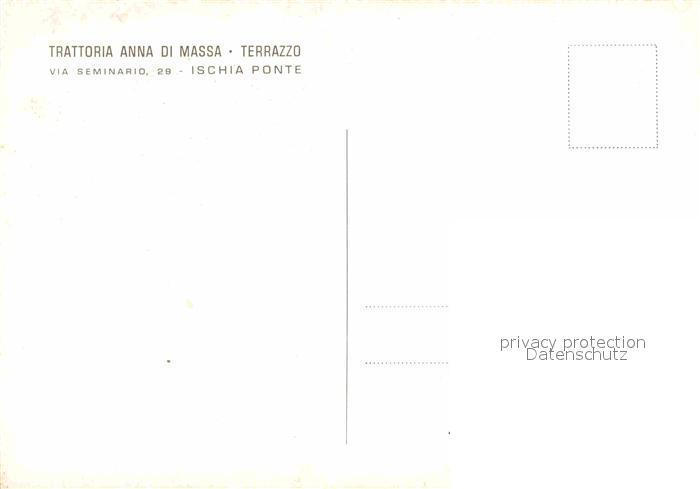AK / Ansichtskarte Ischia Ponte Trattoria Anna Di Massa 1