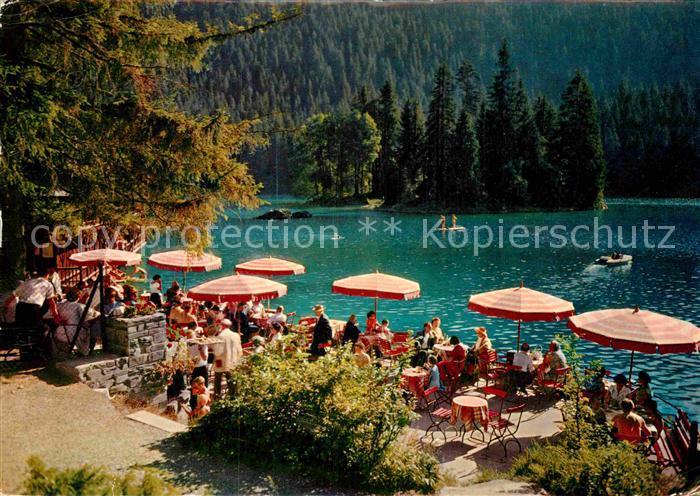 AK / Ansichtskarte Flims Waldhaus Terrassen Restaurant am Caumasee Kat. Flims Waldhaus