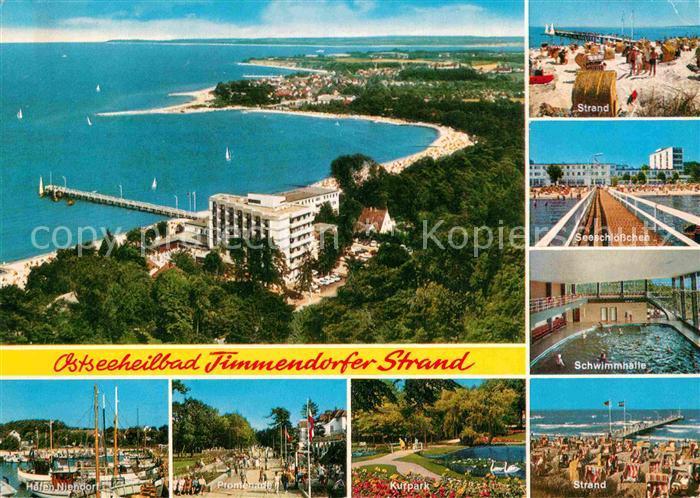 AK / Ansichtskarte Timmendorfer Strand Schwimmbad Strand Kurpark Hafen Niendorf Kat. Timmendorfer Strand