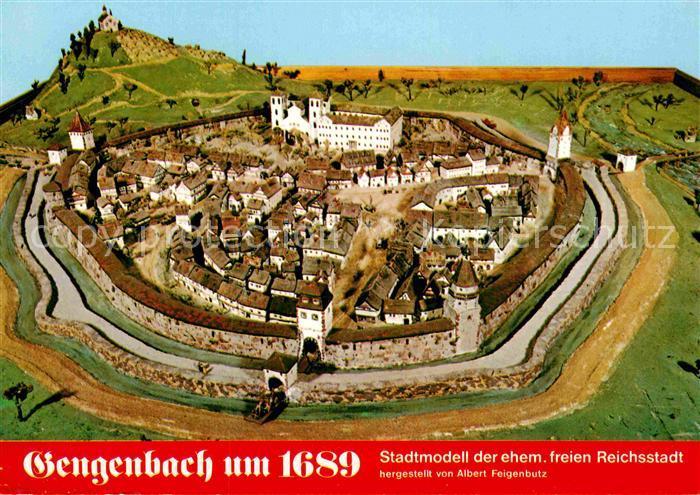 AK / Ansichtskarte Gengenbach Modell der Stadt um 1689 Kat. Gengenbach Schwarzwald