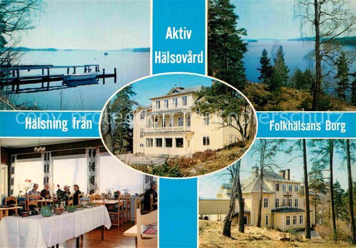 AK / Ansichtskarte Schweden Folkhaelsans Borg
