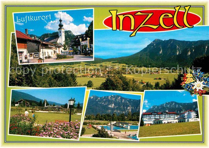 AK / Ansichtskarte Inzell Schwimmbad Kirche Hotelanlagen Kat. Inzell