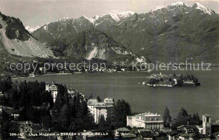 AK / Ansichtskarte Stresa Lago Maggiore Panorama mit Isola Bella
