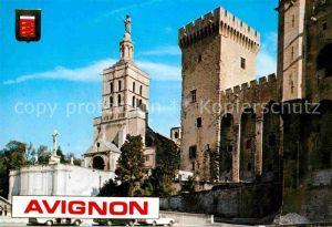 AK / Ansichtskarte Avignon Vaucluse Notre Dame des Doms et le Palais des Papes Kat. Avignon