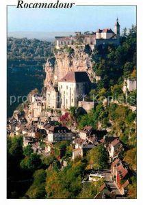 AK / Ansichtskarte Rocamadour Les Maisons sur le Ruisseau Le Chateau sur les Rochers Kat. Rocamadour
