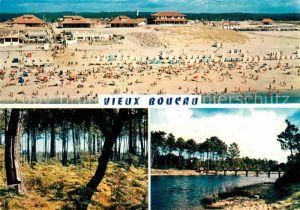 AK / Ansichtskarte Vieux Boucau les Bains La plage Un sous bois La passerelle Kat. Vieux Boucau les Bains