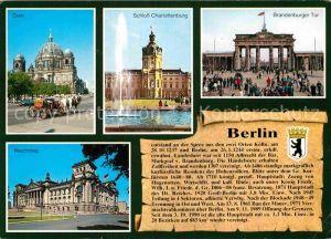 AK / Ansichtskarte Berlin Dom Schloss Charlottenburg Brandenburger Tor Reichstag Kat. Berlin
