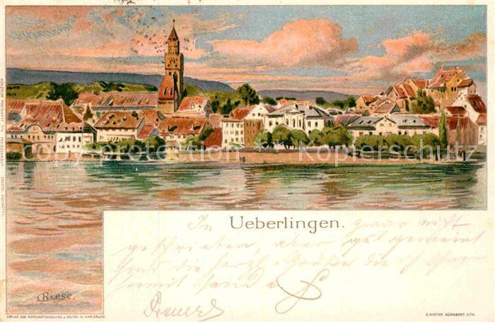 AK / Ansichtskarte ueberlingen Bodensee Kuenstlerkarte C. Biese  Kat. ueberlingen