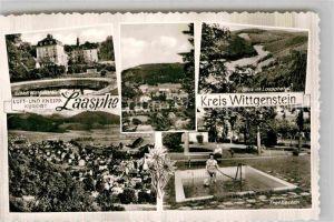 AK / Ansichtskarte Laasphe Schlott Wittgenstein Laasphetal Tretbecken Kat. Bad Laasphe