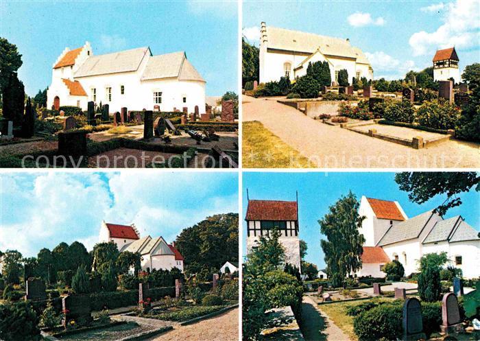 AK / Ansichtskarte Bornholm Pedersker Kirke Poulsker Kirke Bodilsker Kirke Ibsker Kirke Kat. Daenemark