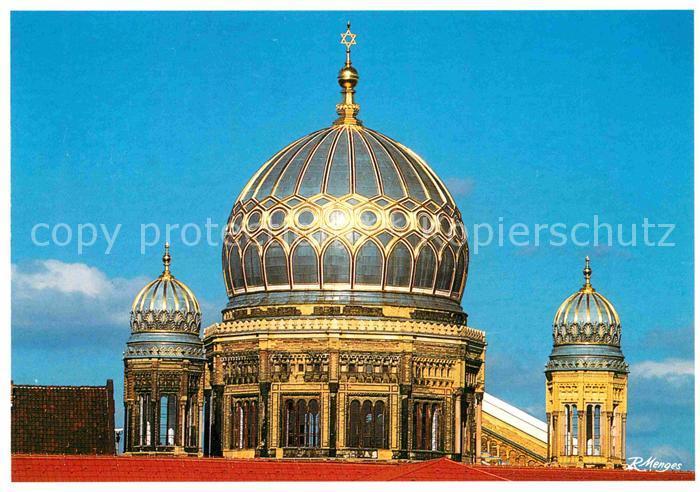 AK / Ansichtskarte Berlin Kuppeln der Neuen Synagoge Oranienburger Strasse Kat. Berlin