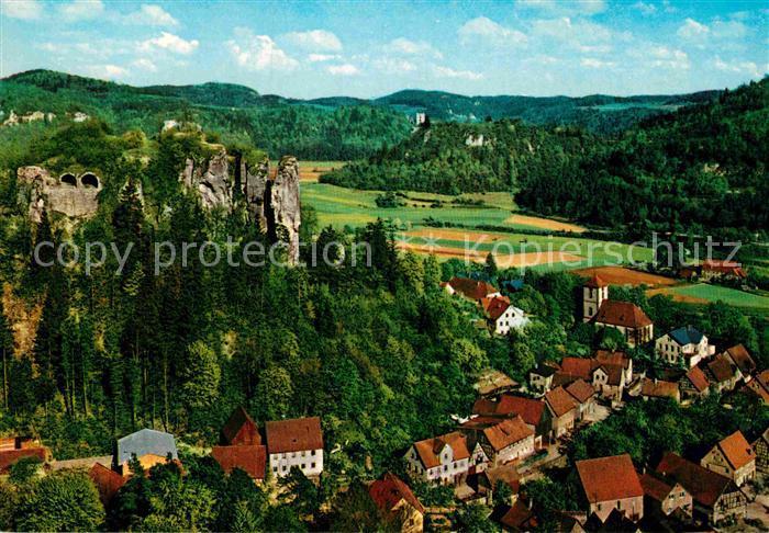 AK / Ansichtskarte Streitberg Oberfranken mit Streitburg und Ruine Neideck Kat. Wiesenttal
