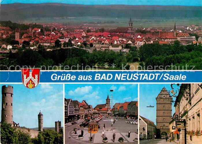 AK / Ansichtskarte Bad Neustadt Panorama Schloss Marktplatz Stadttor Kat. Bad Neustadt a.d.Saale