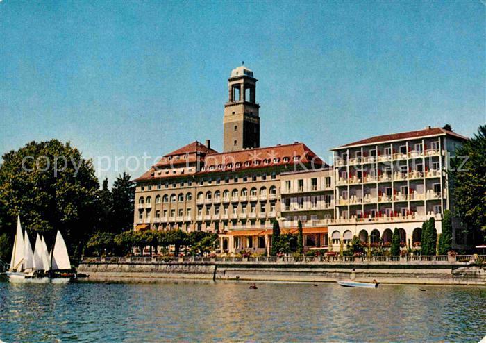 Ak Ansichtskarte Lindau Bodensee Hotel Bad Schachen Kat Lindau