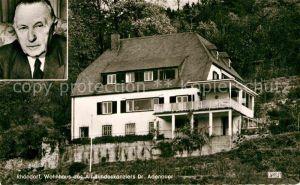 AK / Ansichtskarte Rhoendorf Wohnhaus Dr. Adenauer  Kat. Bad Honnef
