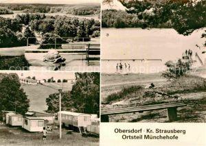 AK / Ansichtskarte Muenchehofe Hoppegarten Klobichsee Campingplatz