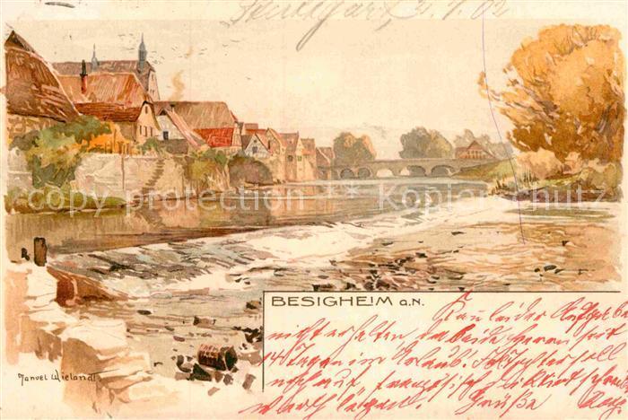 AK / Ansichtskarte Besigheim Kuenstlerkarte Manuel Wielandt Kat. Besigheim