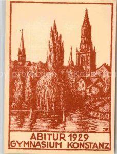 AK / Ansichtskarte Konstanz Bodensee Abitur 1929 Gymnasium Kuenstlerkarte  Kat. Konstanz
