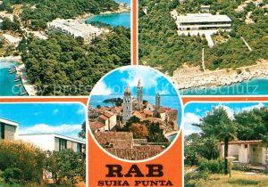 AK / Ansichtskarte Rab Croatia Fliegeraufnahme Teilansicht
