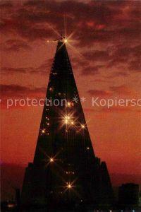 AK / Ansichtskarte Pjoengjang Nachtansicht vom Bauplatz des