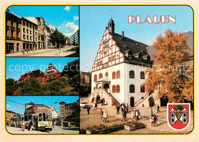 AK / Ansichtskarte Plauen Vogtland Bahnhofstrasse Altes Rathaus Malzhaus Postplatz Kat. Plauen