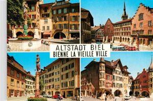 AK / Ansichtskarte Biel Bienne Altstadt Rathaus Platz Brunnen Denkmal Kat. Biel